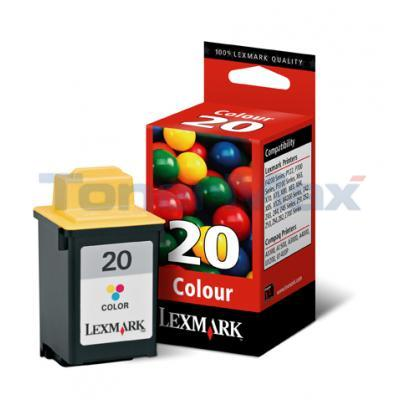 LEXMARK X125 NO 20 PRINT CARTRIDGE TRI-COLOR